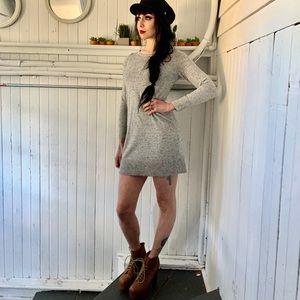 Grey speckled sweater dress